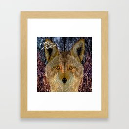 Long Night Coyote Framed Art Print