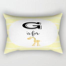 G for Giraffe Rectangular Pillow