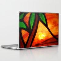 west coast Laptop & iPad Skins featuring West Coast Sunset by Jerel Cardona