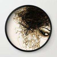 transparent Wall Clocks featuring Transparent by Sofia Karlström