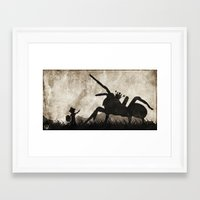 courage Framed Art Prints featuring courage by Seamless