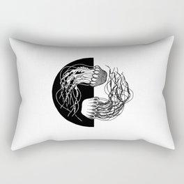 Jellyfish Yin Yang Rectangular Pillow