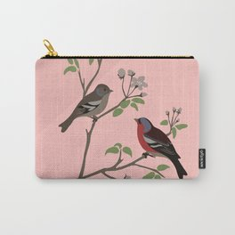 Peaceful harmony in the cherry tree - Illustration Carry-All Pouch