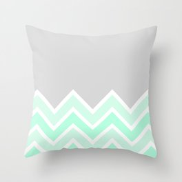 TWO-TONE MINT CHEVRON COLORBLOCK Throw Pillow