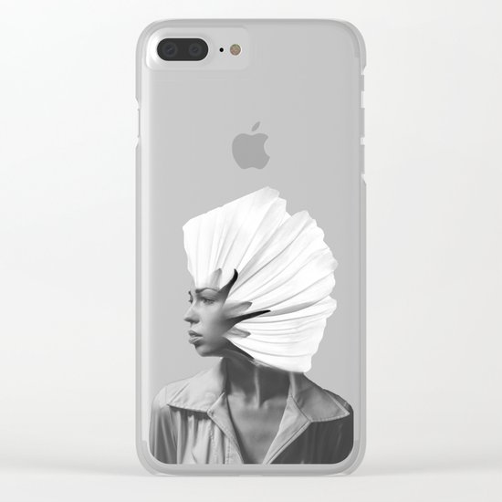 FLOWERGIRL Clear iPhone Case