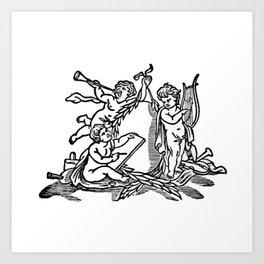 Angels singing Art Print
