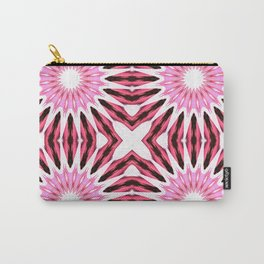 Pinwheel Flowers Dark Pink Watercolor Carry-All Pouch