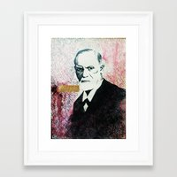 freud Framed Art Prints featuring Freud by smercadante