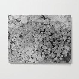 Grey Matter absract art Metal Print