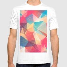 Geometric pattern MEDIUM Mens Fitted Tee White