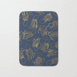 Gold Squid (Indigo) Bath Mat