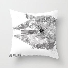 Star Wars Vehicle Millennium Falcon Throw Pillow