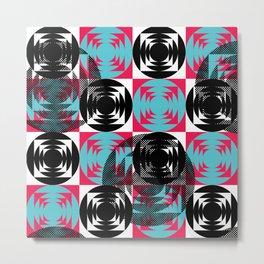 Disco Pattern Metal Print