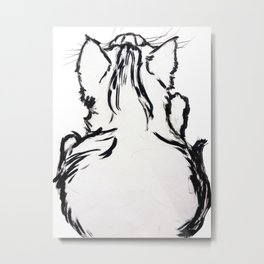 Pocky the Kitten Metal Print