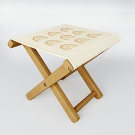Neutral Rainbows Folding Stool