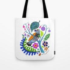 Bird Botanical Tote Bag