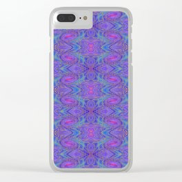Subspace Currents Pattern Clear iPhone Case
