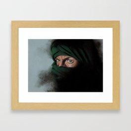 Smokey Eyes Framed Art Print
