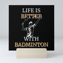 Badminton Badminton Player Mini Art Print