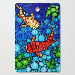 Pure Koi Joi - Mosaic Fish Art Painting by Sharon Cummings Cutting Board