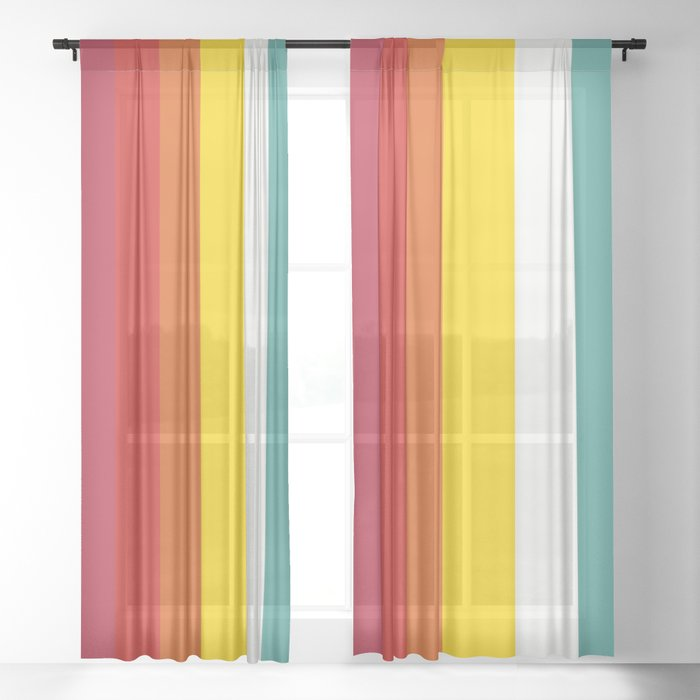 Retro Trickster B Sheer Curtain