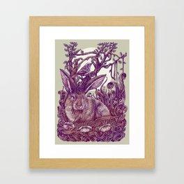 Rabbit Horns Framed Art Print