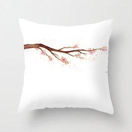 Cherry Tree Branch Throw Pillow
