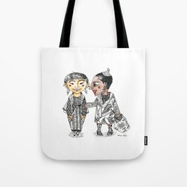 Modern tribal girls Tote Bag