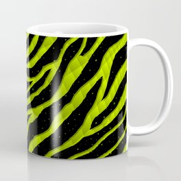 Ripped SpaceTime Stripes - Lime Yellow Coffee Mug