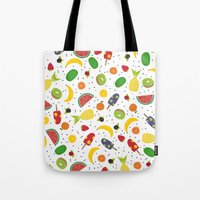 fruits Tote Bags featuring Fruits by Ananá