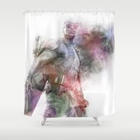 falcon Shower Curtains featuring Falcon by NKlein Design