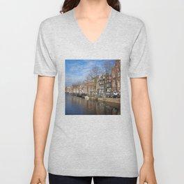 Amsterdam canal 3 Unisex V-Neck