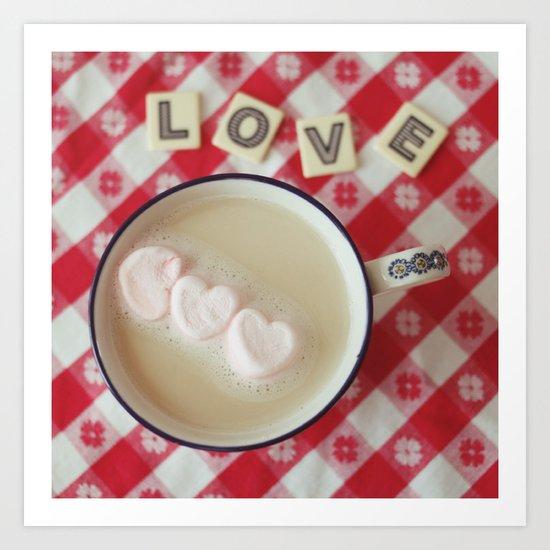 cup of hearts Art Print
