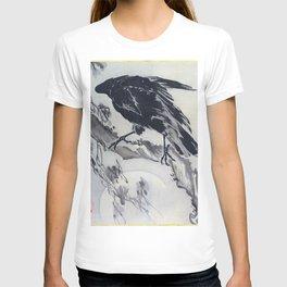 12,000pixel-500dpi - Kawanabe Kyosai - Crow And The Moon - Digital Remastered Edition T-shirt