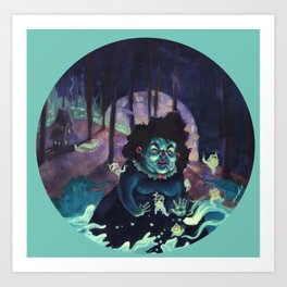 Snail Witch Art Print