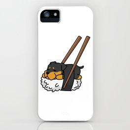Rottweiler Sushi iPhone Case