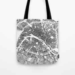 Paris Map Schwarzplan Only Buildings Tote Bag