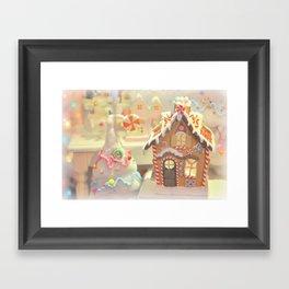 Gingerbread Days Framed Art Print