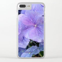 Hydrangea Dance Clear iPhone Case