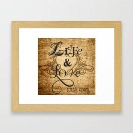 Life & Love Framed Art Print