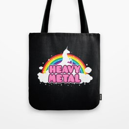 HEAVY METAL! (Funny Unicorn / Rainbow Mosh Parody Design) Tote Bag