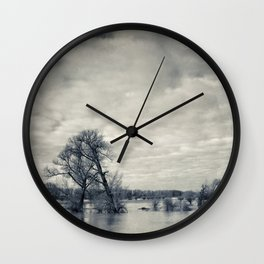 lean on me - flooded meadows Wall Clock