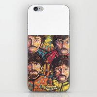 yellow submarine iPhone & iPod Skins featuring Yellow Submarine by somanypossibilities