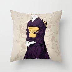 Geisha B Throw Pillow