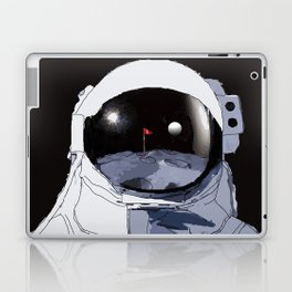 Astronaut Golf Course on the Moon Laptop & iPad Skin
