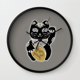 Unlucky Kitty Wall Clock