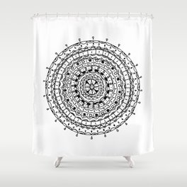 Circles Pattern Shower Curtain