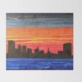 Toledo Skyline Throw Blanket