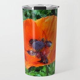 Wild Red Poppy Photograph Travel Mug