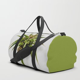 Thistle bud and snail Duffle Bag